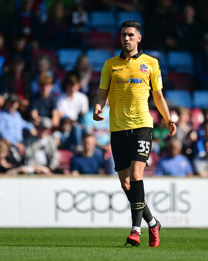 Bolton Wanderers' Conor Wilkinson<br /> <br /> Photographer Chris Vaughan/CameraSport<br /> <br /> The EFL Sky Bet League One - Scunthorpe United v Bolton Wanderers - Saturday 8th April 2017 - Glanford Park - Scunthorpe<br /> <br /> World Copyright &copy; 2017 CameraSport. All rights reserved. 43 Linden Ave. Countesthorpe. Leicester. England. LE8 5PG - Tel: +44 (0) 116 277 4147 - admin@camerasport.com - www.camerasport.com