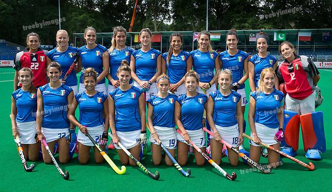 24/06/2015<br /> HWL Semi Final Antwerp Belgium 2015<br /> France v Spain Women<br /> Italy<br /> Photo: Grant Treeby