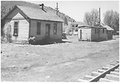 View of the RGS Dolores section house and boxcar bunk house.<br /> RGS  Dolores, CO  5/1951