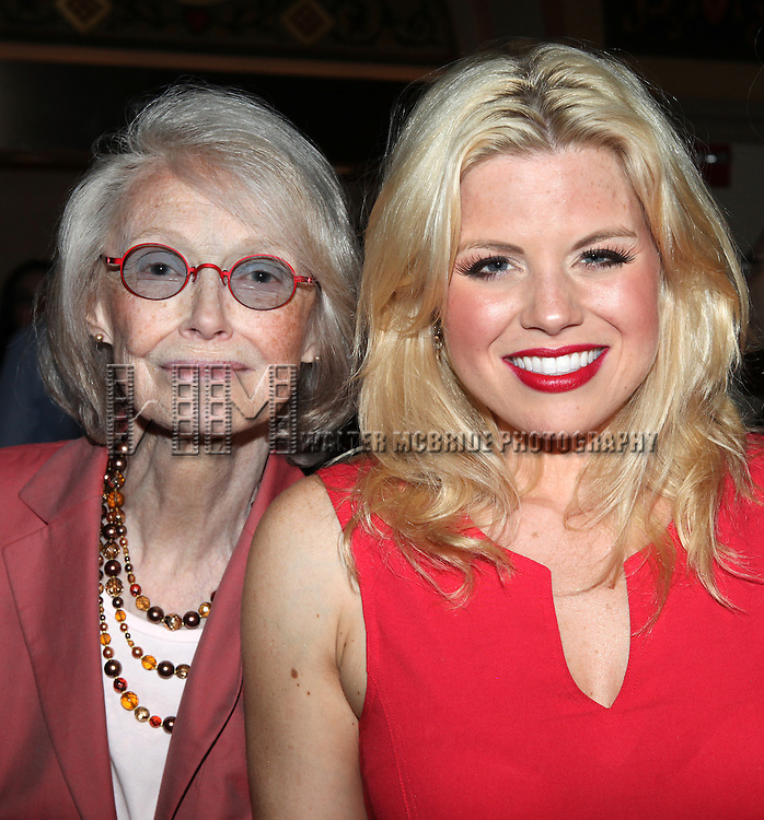 Margaret Styne & Megan Hilty.attending the reception for the final performance of the New York City Center ENCORES! Production of 'Gentlemen Prefers Blondes' at City Center in New York City on 5/13/2012.