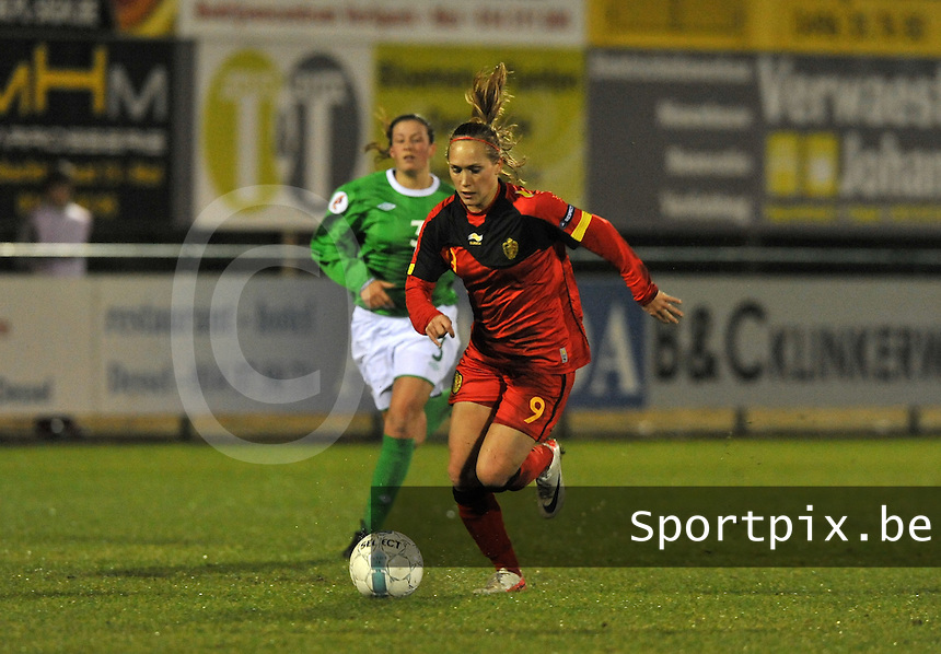 UEFA Women's Euro Qualifying group stage (Group 3) -  KFC Dessel - Armand Melis Stadion : BELGIUM -Northern Ireland ( Belgie - Noord Ierland ) : Janice Cayman..foto DAVID CATRY / Vrouwenteam.be / Loft6.be