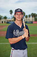 GCL Braves Stephen Paolini (18) poses for a photo before a Gulf Coast League game against the GCL Orioles on August 5, 2019 at Ed Smith Stadium in Sarasota, Florida.  GCL Orioles defeated the GCL Braves 4-3 in the second game of a doubleheader.  (Mike Janes/Four Seam Images)