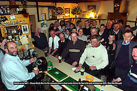 'Smoke away lads&quot;.... <br /> Kerry county councillor Danny Healy-Rae who will not be implementing the smoking ban in his pub in Kilgarvan pictured with customers in his pub at the weekend.<br /> Picture: Don MacMonagle