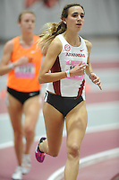 NWA Democrat-Gazette/ANDY SHUPE<br /> Arkansas freshman Micah Huckabee competes in the 3,000 meters Saturday, Feb. 11, 2017, during the Tyson Invitational in the Randal Tyson Track Center in Fayetteville. Visit nwadg.com/photos to see more photographs from the meet.