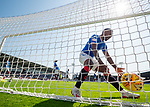 25.08.2019 St Mirren v Rangers: Jermain Defoe blasts the ball back into the net as Borna Barisic celebrates