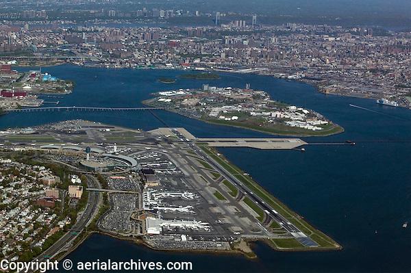 aerial photograph LaGuardia airport Queens New York