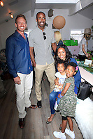 """WEST HOLLYWOOD - JUN 15: Ian Ziering, Elizabeth Matthis, Isa Rahman, daughters at the """"At Home with the Zierings"""" Blog Launch Party at Au Fudge on June 15, 2016 in West Hollywood, California"""