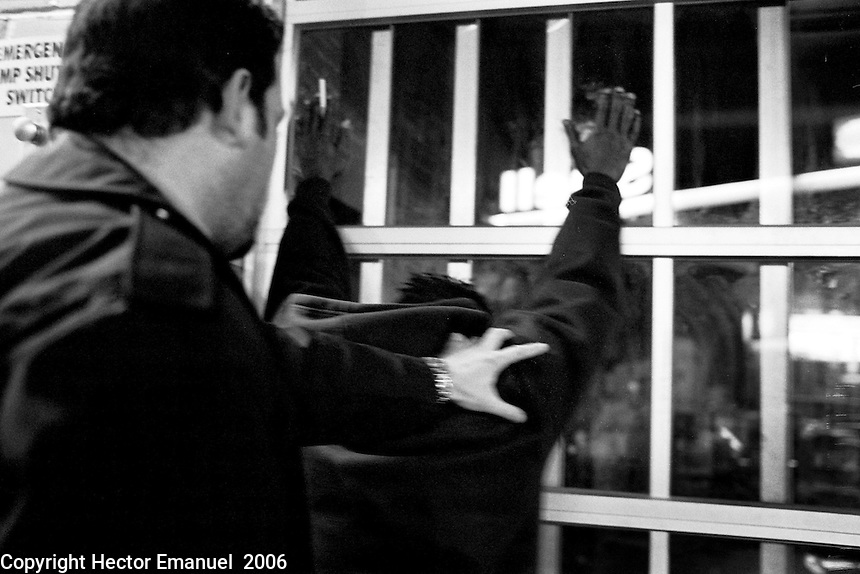 Washington DC Metropolitan  Police<br /> <br /> detain a man suspected of firing a gun