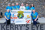 Members of Pedal Herd Mizen to Malin Head cycle gang present a cheque for &euro;13,150 to the Kerry Hospice on Saturday.<br /> Kneeling: Enda O&rsquo; Leary and Jimmy Adams. <br /> Standing l to r: Mary Marley, Liam Marley, Sean Cronin, Martin Griffin, Ann Marie Dowling and Caoimhe Marley.