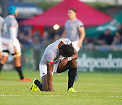 9th September 2017, Galway Sportsground, Galway, Ireland; Guinness Pro14 Rugby, Connacht versus Southern Kings; Yaw Penxe (Southern Kings) prepares himself before kick off