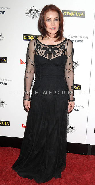WWW.ACEPIXS.COM . . . . .  ..... . . . . US SALES ONLY . . . . .....January 14 2012, LA....Priscilla Presley arriving at the 9th Annual G'Day USA Black Tie Gala at the Hollywood & Highland Grand Ballroom on January 14, 2012 in Hollywood, California....Please byline: FAMOUS-ACE PICTURES... . . . .  ....Ace Pictures, Inc:  ..Tel: (212) 243-8787..e-mail: info@acepixs.com..web: http://www.acepixs.com