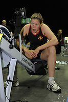 Birmingham, Great Britain, Women's  Open, Gold medallist, Jo LYONS,Worcester RC, competing at the 2008 British Indoor Rowing Championships, National Indoor Arena. on  Sunday 26.10.2008 .   [Photo, Peter Spurrier/Intersport-images] ..
