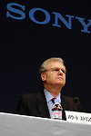 Sony Corp chief executive Howard Stringer attends a press conference at the company headquarters in Tokyo on Friday night. Stringer annonced he would also become president from 1st April. 27 February, 2009. (Taro Fujimoto/JapanToday/Nippon News)