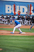 Marco Hernandez (13) of the Ogden Raptors fields the throw during the game against the Grand Junction Rockies at Lindquist Field on June 17, 2019 in Ogden, Utah. The Rockies defeated the Raptors 9-0. (Stephen Smith/Four Seam Images)