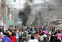 PASTO -COLOMBIA- 28-08-2013.Disturbios en la capital nari–ense durante el paro agrario    /  . Riots in the capital during the agrarian strike nari–ense.Photo: VizzorImage /  Stringer