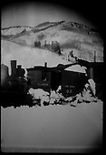 RGS plow-flanger #03 plowing snow on Rico enginehouse lead.<br /> RGS  Rico, CO  ca. 1930-1939