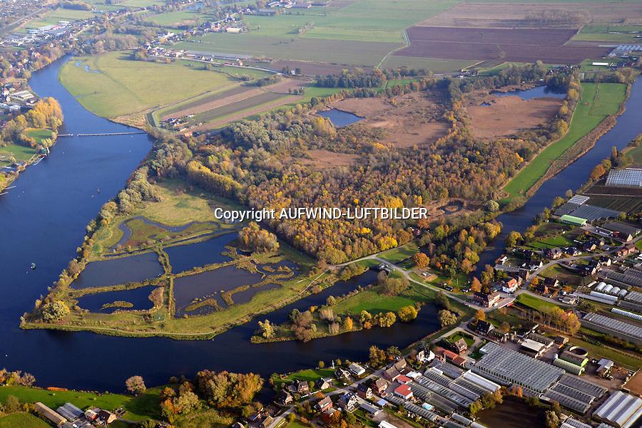 Die Reit: DEUTSCHLAND, HAMBURG 04.11.2016: Das Naturschutzgebiet Die Reit liegt in den Hamburger Stadtteilen Reitbrook und Allermöhe in den Marschlanden, zwischen dem Zusammenfluss der Dove Elbe und Gose Elbe.<br /> <br /> Das Naturschutzgebiet im Südosten Hamburgs hat eine Größe von 92 Hektar. Es umfasst das 1973 ausgewiesene Gebiet Die Reit und die 2011 erfolgte Erweiterung um die Flächen Die Hohe, Kleiner Brook und ein rund 3,3 ha großes Gebiet im Südosten. Die heutige Geländestruktur der Reit ist wesentlich auf den Betrieb einer Ziegelei zurückzuführen. Geprägt wird das Gebiet von den ausgedehnten Schilfröhrichten, artenreichen Weidengebüschen und dem urwüchsigen Birkenbruchwald, zwei größeren Teichen sowie vielen Kleingewässern und Gräben. Die Hohe ist ein vielfältiges Teichgelände auf einem ehemaligen Spülfeld. Der Kleine Brook wird geprägt durch Grünland im Vorland der Dove Elbe.<br /> <br /> Den Schutzstatus erhielt Die Reit in erster Linie wegen ihrer Bedeutung als Brut- und Rastgebiet mitteleuropäischer Sing- und Zugvögel, Die Hohe für das bedeutende Vorkommen des Kammmolchs und der Kleine Brook aufgrund seiner Bedeutung für Wiesenvögel, insbesondere für die Uferschnepfe. Auch durch weitere Amphibienvorkommen, vielerlei Insekten und seine Flora zeichnet sich das Schutzgebiet aus.