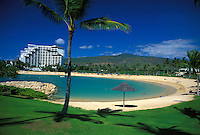 A secluded lagoon is one of four that awaits visitors to the Koolina Resort and golf course.   Leeward, Oahu.