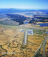 aerial photograph Gnoss Field airport Novato, Marin County, California