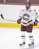 Peter Harrold - The Boston College Eagles and University of New Hampshire earned a 3-3 tie on Thursday, March 2, 2006, on Senior Night at Kelley Rink at Conte Forum in Chestnut Hill, MA.  Boston College honored its three seniors, captain Peter Harrold and alternate captains Chris Collins and Stephen Gionta, before the game.