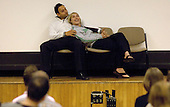 Eleanor Vale & Chris Cowan from Loudmouth Theatre Company give a presentation on teenage relationships, at the Sex & Relationships Education Conference at the Institute of Education, London.