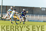 Jack Goulding Kerry in action against Sean Ryan and Emmett Nolan Offaly in the National Hurling League in Austin Stack Park, Tralee on Sunday.