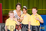 On Thursday pupils from Deaf  and Speech Therapy group at Presentation Primary school welcomed the Rose Of Tralee Maria Walsh in Sign language, they told her they were very happy to meet her and how they loved Roses on Thursday ,They were Miranda and Michael O'Brien and Rebecca Cirpaciu
