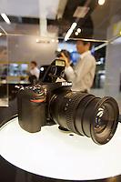 Photokina in Cologne ist the World's biggest bi-annual photo fair..Nikon stand. Nikon D600.