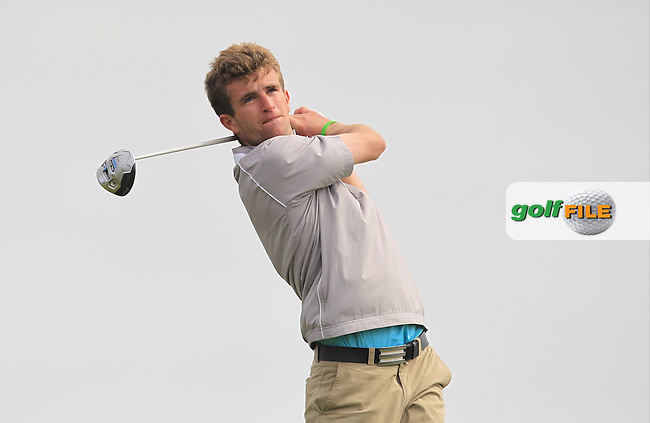 Sean Flanagan (Co. Sligo) on the 14th tee during Round 2 of the Flogas Irish Amateur Open Championship at Royal Dublin on Friday 6th May 2016.<br /> Picture:  Thos Caffrey / www.golffile.ie