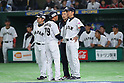(L to R) <br />  Toshihisa Nishi, <br />  Takayuki Onishi, <br />  Hiroki Kokubo (JPN), <br /> MARCH 7, 2017 - WBC : <br /> 2017 World Baseball Classic <br /> First Round Pool B Game <br /> between Japan 11-6 Cuba <br /> at Tokyo Dome in Tokyo, Japan. <br /> (Photo by YUTAKA/AFLO SPORT)