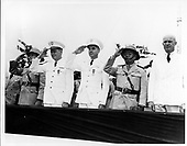 Manila, Philipines - Undated file photo -- Dwight D. Eisenhower, at right, views Filipino troops in Manila, Philipines - no date..Credit: U.S. Army photo / CNP