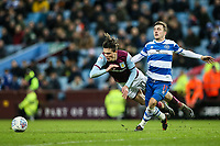 Aston Villa's Jack Grealish is brought down by Queens Park Rangers' Josh Scowen<br /> <br /> Photographer Andrew Kearns/CameraSport<br /> <br /> The EFL Sky Bet Championship -  Aston Villa v Queens Park Rangers - Tuesday 13th March 2018 - Villa Park - Birmingham<br /> <br /> World Copyright &copy; 2018 CameraSport. All rights reserved. 43 Linden Ave. Countesthorpe. Leicester. England. LE8 5PG - Tel: +44 (0) 116 277 4147 - admin@camerasport.com - www.camerasport.com