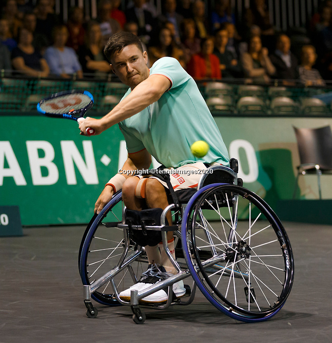 Rotterdam, The Netherlands, 15 Februari 2020, ABNAMRO World Tennis Tournament, Ahoy, <br /> Wheelchair: Final. Gordon Reid (GBR).<br /> Photo: www.tennisimages.com