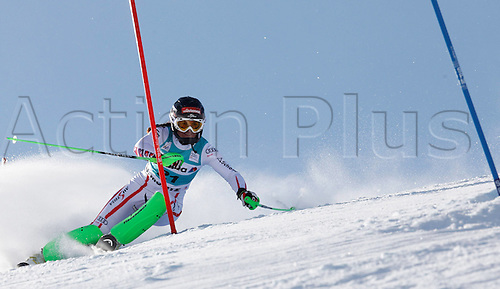 29.01.2012.  Ski Alpine FIS WC St Moritz Super Combination women  Ski Alpine FIS World Cup Super combination for women Slalom Picture shows Elisabeth Goergl AUT