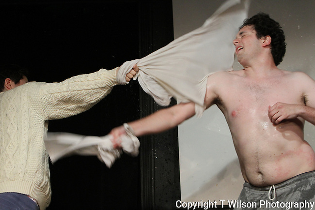 """John Haskell and Arthur Meyer are """"Two Fun Men"""" at Sketchfest NYC, 2011."""