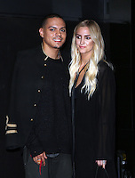 "Hollywood, CA - NOVEMBER 07: Evan Ross, Ashlee Simpson at Premiere Of ""God vs Trump"" At TCL Chinese Theatre, California on November 07, 2016. Credit: Faye Sadou/MediaPunch"