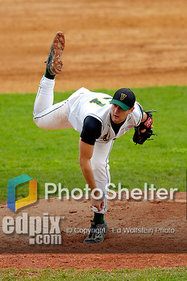 18 May 2006: Brandon Miles,  a University of Vermont Junior from Berlin, CT, on the mound against the University of Maine Black Bears, at Historic Centennial Field, in Burlington, Vermont...Mandatory Photo Credit: Ed Wolfstein Photo.
