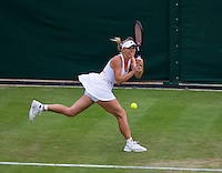 26-06-13, England, London,  AELTC, Wimbledon, Tennis, Wimbledon 2013, Day three, Caroline Wozniacki (DEN)<br /> <br /> <br /> <br /> Photo: Henk Koster