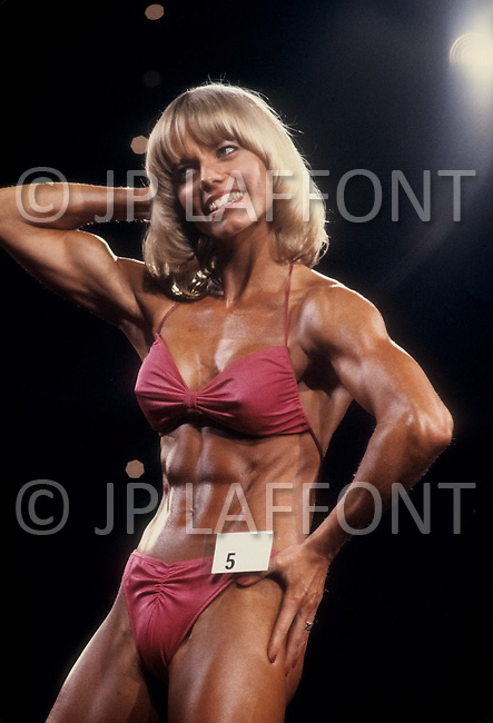 Atlantic City, NJ, April 24, 1981. Susie Green at the Women's World Bodybuilding Championships.