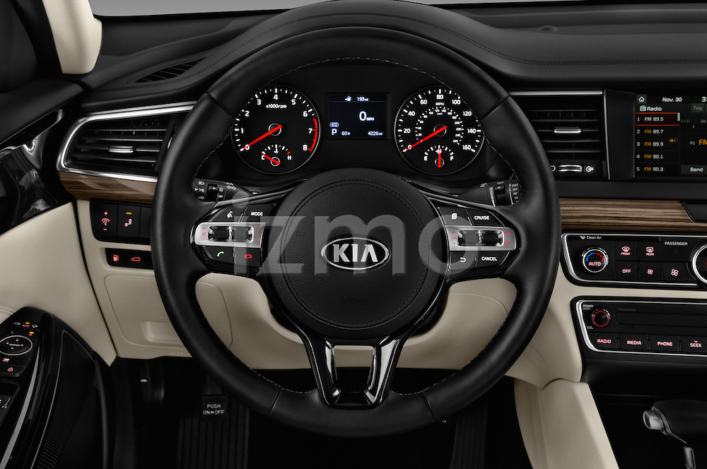 Car pictures of steering wheel view of a 2018 KIA Cadenza Premium 4 Door Sedan Steering Wheel