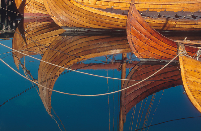 Reproduction Norwegian boats at the Sunnmore Boat Museum. Alesund, C. Norway