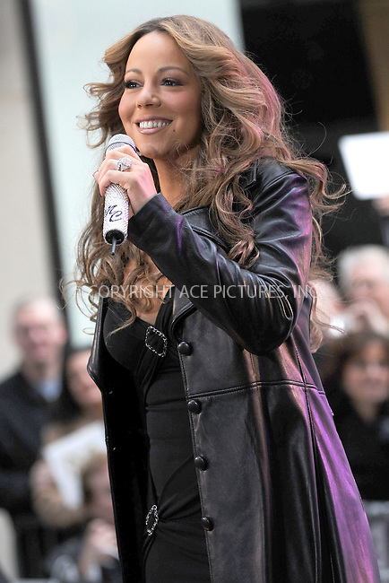 WWW.ACEPIXS.COM . . . . . ....October 2 2009, New York City....Singer Mariah Carey performed on NBC's 'Today Show' at the Rockefeller Plaza on October 2 2009 in New York City....Please byline: KRISTIN CALLAHAN - ACEPIXS.COM.. . . . . . ..Ace Pictures, Inc:  ..(212) 243-8787 or (646) 679 0430..e-mail: picturedesk@acepixs.com..web: http://www.acepixs.com