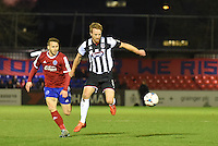 Craig Disley of Grimsby Town controls the ball during the Vanarama National League match between Aldershot Town and Grimsby Town at the EBB Stadium, Aldershot, England on 5 April 2016. Photo by Paul Paxford / PRiME Media Images.