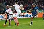 15.04.2019, RheinEnergieStadion, Koeln, GER, 2. FBL, 1.FC Koeln vs. Hamburger SV ,<br />  <br /> DFL regulations prohibit any use of photographs as image sequences and/or quasi-video<br /> <br /> im Bild / picture shows: <br /> Torchance fuer Jhon C&oacute;rdoba (FC Koeln #15),   wird von L&eacute;o Lacroix (HSV #2), vereitelt<br /> <br /> Foto &copy; nordphoto / Meuter