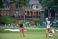 Ceilia Barquin Arozamena (a)(ESP) looks over her approach shot on 18 during round 1 of the U.S. Women's Open Championship, Shoal Creek Country Club, at Birmingham, Alabama, USA. 5/31/2018.<br /> Picture: Golffile | Ken Murray<br /> <br /> All photo usage must carry mandatory copyright credit (&copy; Golffile | Ken Murray)