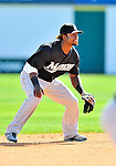 2 March 2011: Florida Marlins infielder Hanley Ramirez in action during a Spring Training game against the Washington Nationals at Space Coast Stadium in Viera, Florida. The Nationals defeated the Marlins 8-4 in Grapefruit League action. Mandatory Credit: Ed Wolfstein Photo