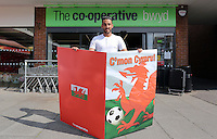 2016 05 16 Co-op Food show ther support to the Wales International football team,Swansea,UK