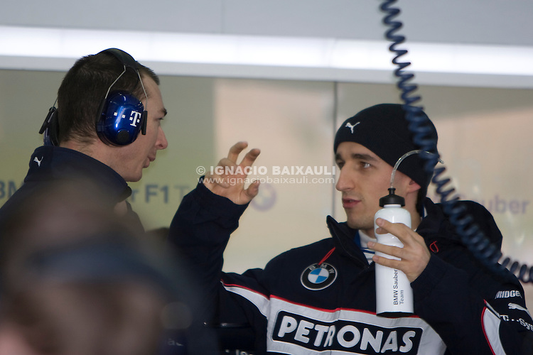 Robert Kubica. BMW Sauber F1 TEST with Robert Kubika as driver. Circuito Ricardo Tormo de la Comunitat Valenciana, Cheste, Valencia, Spain