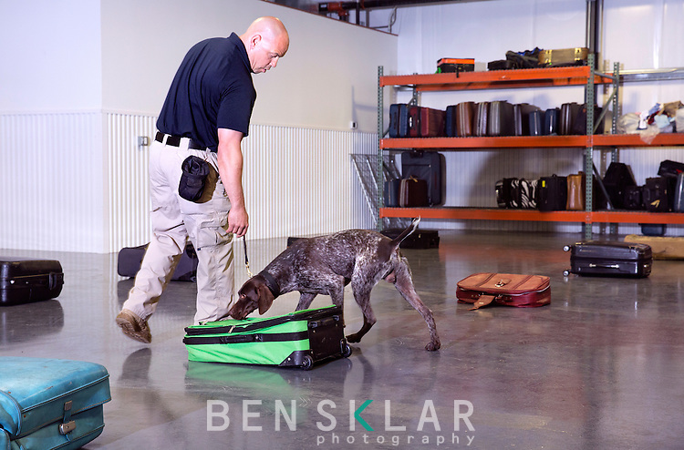 TSA K9 training at Lackland Air Force Base in San Antonio, Texas