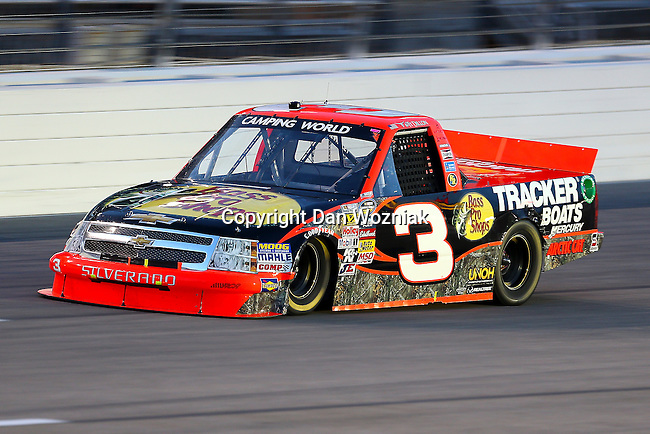 Camping World Truck Series driver Ty Dillion (3) in action during the NCWTS Winstar World Casino 400 race at Texas Motor Speedway in Fort Worth,Texas.